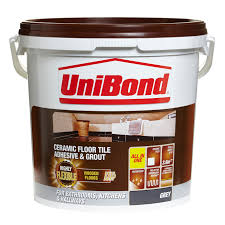 unibond ready to use floor tile adhesive u0026 grout grey 14 3kg