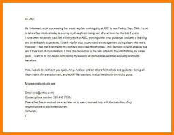 employer thank you letter after resignation 100 images 6 thank