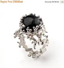 onyx engagement rings on sale coral 14k white gold onyx ring black onyx engagement ring