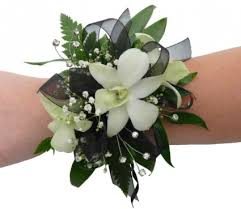 corsage flowers mixed white flower corsage wrist corsage in bend or autry s 4