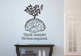 wall decals quotes quotesgram think outside no box required wall decal quote
