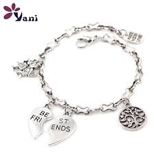 bracelet styles images 10pcs lot mix styles fashion girl boy broken heart best friends jpg