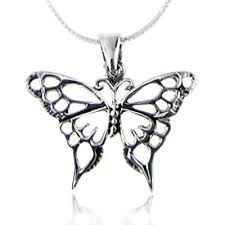 butterfly long chain necklace images 925 sterling silver open celtic butterfly pendant jpg