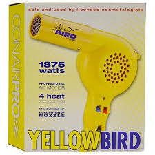 portable hair dryer walmart conair pro yellow bird hair dryer model yb075w walmart com