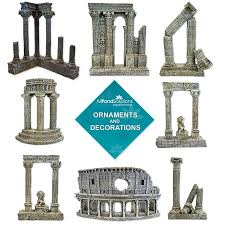 column colosseum ruins ornament aquarium fish tank