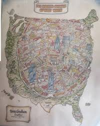 United States Map Poster by United States Of New York Map 1978 Boing Boing