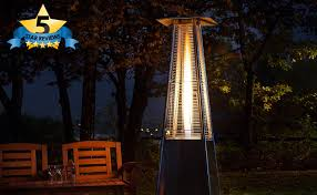 inferno patio heater fire mountain 9500w pyramid living flame gas patio heater review