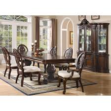 double pedestal dining room table coaster furniture 101037 tabitha rectangular double pedestal