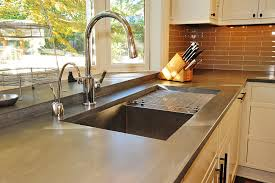 modern kitchen countertop ideas kitchen modern kitchen design idea with concrete countertop