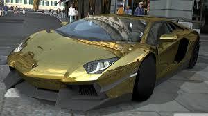 lamborghini golden lamborghini aventador lp700 4 gold chrome gran turismo 5 4k hd