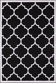 Area Rug Modern by Large Modern Geometric Moroccan Trellis Thin Carpet Black