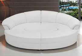 Modern Bonded Leather Sectional Sofa Casa Circle Modern Bonded Leather Circular Sectional 5 Piece