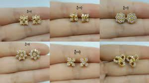 design of gold earrings ear tops diamond ear studs gold ear studs designs small stud earrings