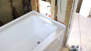 how to install a bathtub make it rock solid home repair tutor