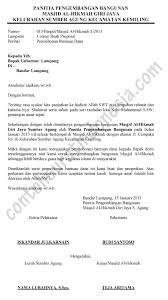 membuat proposal bazar contoh surat permohonan bantuan dana pembangunan masjid