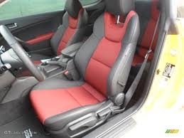 Hyundai Genesis Coupe Specs Black Leather Red Cloth Interior 2012 Hyundai Genesis Coupe 3 8 R
