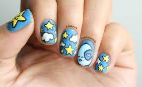 polish pals kawaii star and moon nails