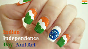 indian independence day nail art 15th august indiannailart