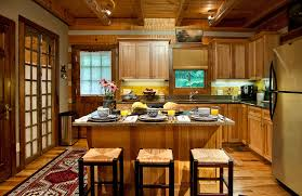 Rustic Hickory Kitchen Cabinets Rustic Hickory Kitchen Cabinets Kitchen Traditional With Hickory