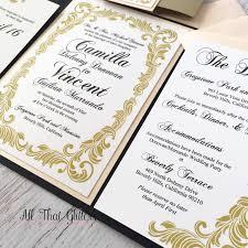 camilla vintage wedding invitation suite all that glitters