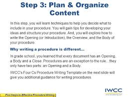 tips u0026 techniques for writing effective procedures ppt download