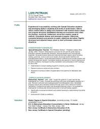 Resume Templates For Teachers Free Resume For Teachers Examples Elementary Teacher Resume Sample