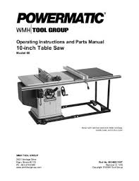 powermatic 10 inch table saw powermatic model 66 table saw manual pdf woodworkers guild