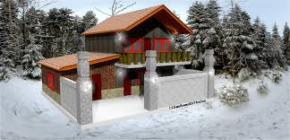 Winter House Sketchup U0027house In Winter White Snow U0027 Pt 1 Youtube