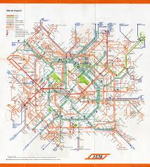 Metro Bus Routes Map by Historical Map Integrated Transit Map Of Milan Transit Maps