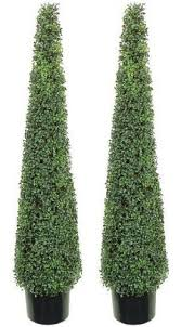 artificial 5 foot tea leaf outdoor topiary tree plant cone tower