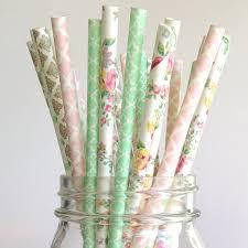 paper straws paper straws vintage wedding straws floral straws