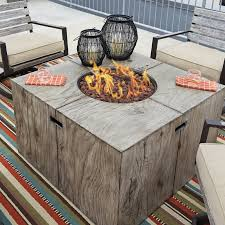 Propane Fire Pit Insert by Laurel Foundry Modern Farmhouse Lilah Polyresin Propane Fire Pit