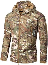 Camo Coll Men U0027s Outdoor Soft Shell Hooded Tactical Jacket At