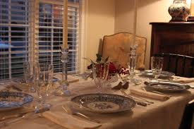 setting the table for a dinner party southern country elegant
