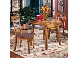 ashley furniture berringer 3 piece drop leaf table u0026 2 upholstered
