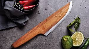 skid the first wooden chef knife by lignum kickstarter lignum skid 97 wood 3 alloyed carbon steel unique