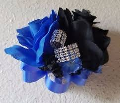 royal blue corsage horizon royal blue black rhinestone corsage ebay