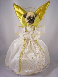 pug fawn tree topper furrypartners