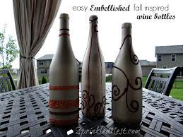 Diy Wine Bottle Decor by Diy Fall Wine Bottle Decor Sprinkled Nest