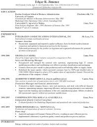 Resume Samples Basic by Free Resume Recentresumes Com