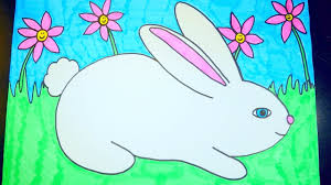 draw rabbit easter videos kids