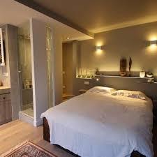 amenagement chambre avec dressing et salle de bain suite parentale avec salle de bain ouverte chambre parentale