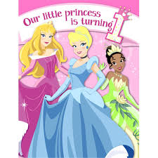 amazon com disney princess 1st birthday invitations w envelopes