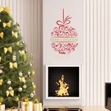 online get cheap wallpaper xmas aliexpress com alibaba group merry christmas wreath wall stickers xmas new year festival party wallpapers living room bedroom kitchen mural