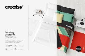 Practical Bedding Set Bedding Bedroom Mockup Set Product Mockups Creative Market