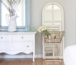shabby chic mirror with wood and metal dining room traditional and