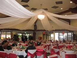 tenture plafond mariage tentures pour une décoration salle mariage décorations