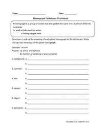 identify homographs worksheet u2026 worksheet pinterest