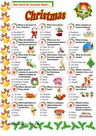 a quiz about christmas esl worksheets christmas ideas