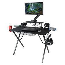 atlantic furniture gaming desk black carbon fiber gaming desk pro atlantic target